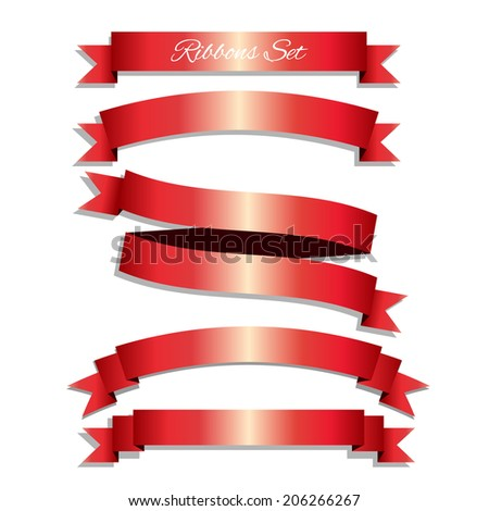 Vector ribbons and labels - stock vector