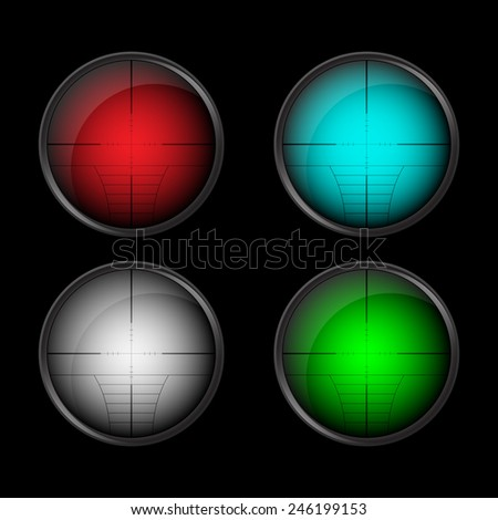 Vector rifle scope. - stock vector