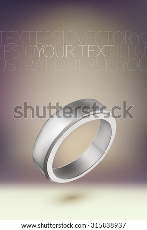 vector ring illustration - stock vector