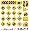 Vector Road Sign Set - stock vector