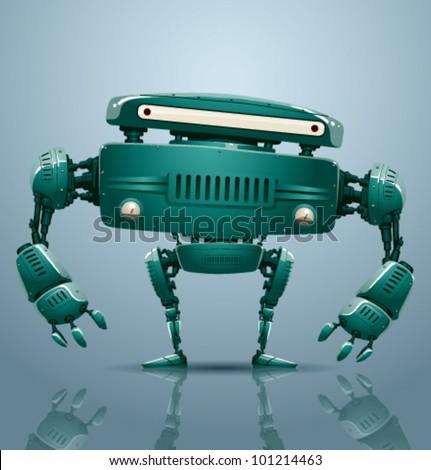 vector robot 4 - stock vector