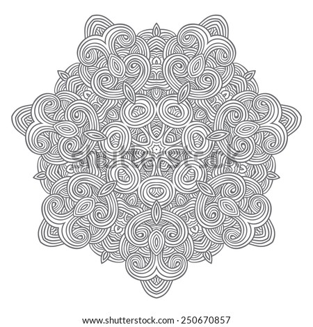 Vector round ornament. Mandala - stock vector