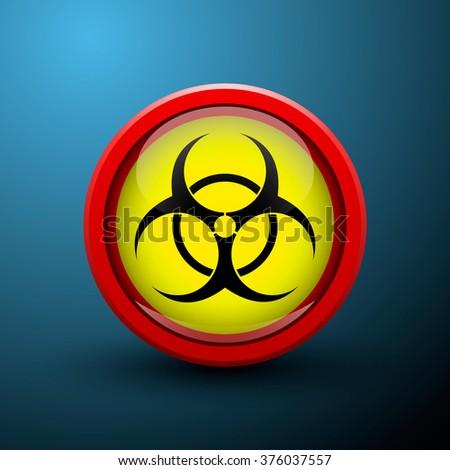 vector round sign symbol bio hazard - stock vector