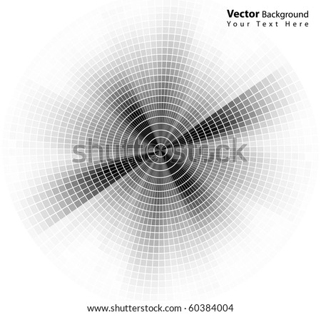 Vector round style abstract grayscale background - stock vector