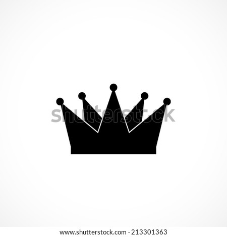 Vector royal crown, flat icon isolated on white background - stock vector