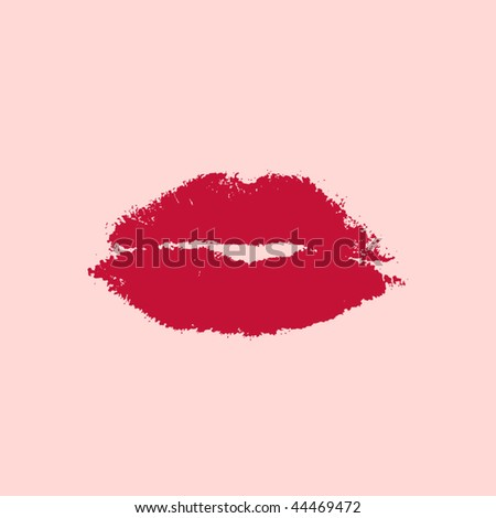 vector ruby lips - stock vector