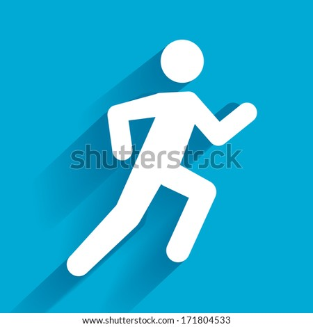 Vector Running Illustration - stock vector