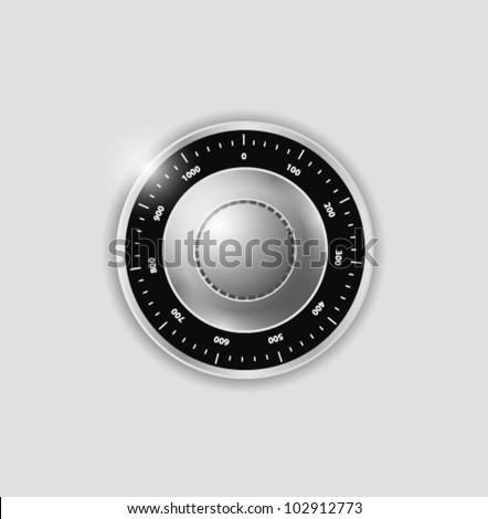 vector safe combination lock - stock vector