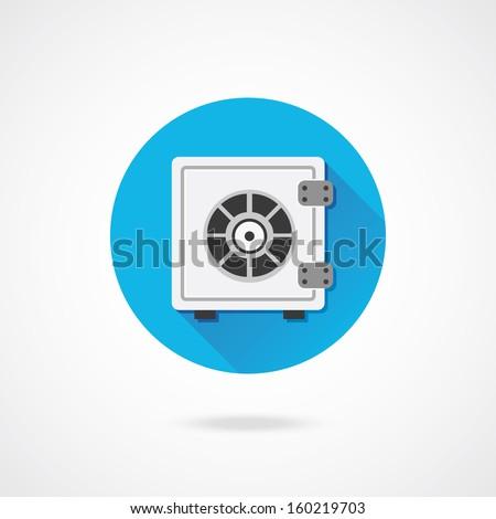 Vector Safe Icon - stock vector