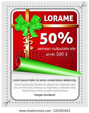 Vector sale Christmas sticker - stock vector