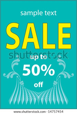 Vector sale Design poster with space for text - stock vector