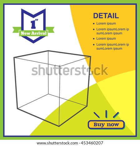 Vector,Sale in blue and green color promotion square banner mock up for social media or website advertising,Leave space for display of product. - stock vector