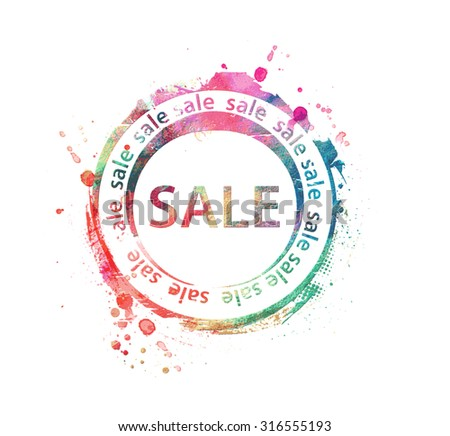 Vector Sale Rubber Stamp Design. - stock vector