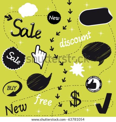 Vector sale set - stock vector