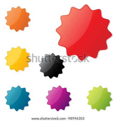 Vector sale stickers - stock vector