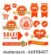 vector sale tags and banners - stock vector