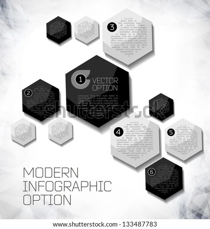 Vector Sample background for options. Design modern template can be used for brochure, infographics or website layout vector. - stock vector