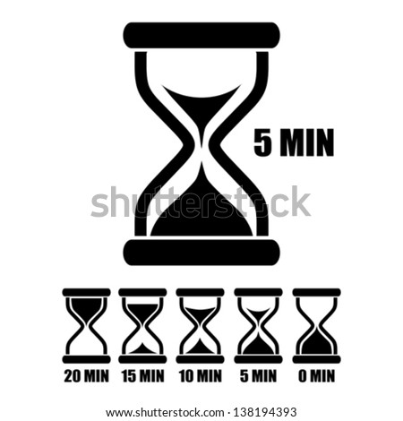 Vector sand glass timer - stock vector