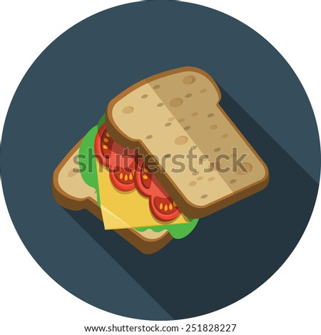 Vector Sandwich - stock vector