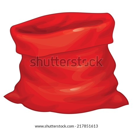 Vector Santa Claus bag isolated. - stock vector
