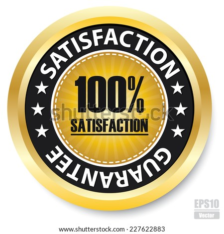 Vector : 100% Satisfaction Guarantee Label.Eps10 - stock vector