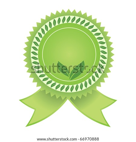 Vector Satisfaction Guaranteed eco green label tag isolated over white background - stock vector
