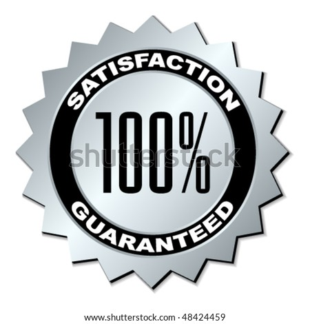 vector satisfaction guaranteed label - stock vector