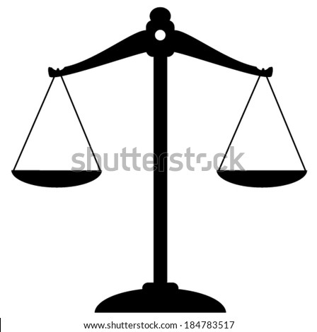 vector scale of justice icon - stock vector