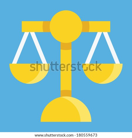 Vector Scales Icon - stock vector