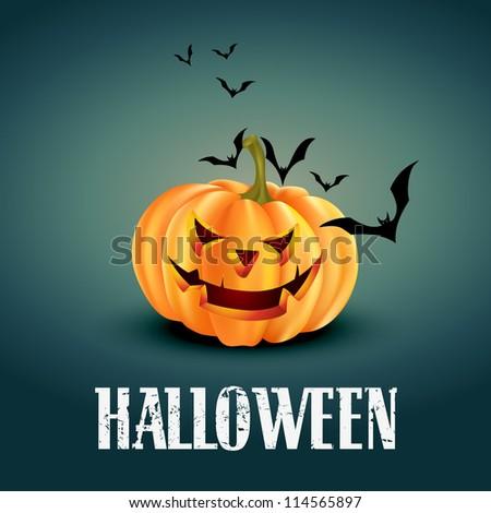 vector scary halloween design illustration - stock vector