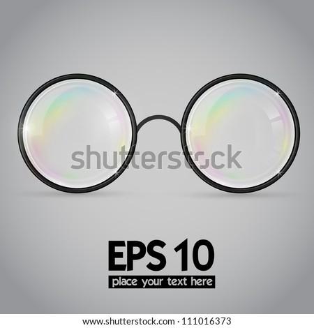 Vector science glasses illustration - stock vector