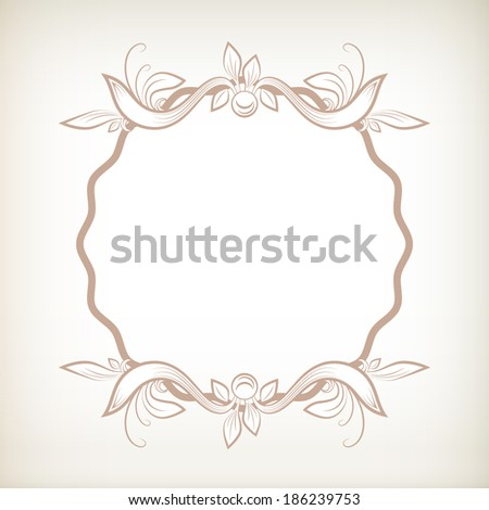 Vector scrolls and vignettes in Victorian style. - stock vector