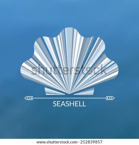 Vector sea shell. Multicolor concept, can be used as logo.  - stock vector