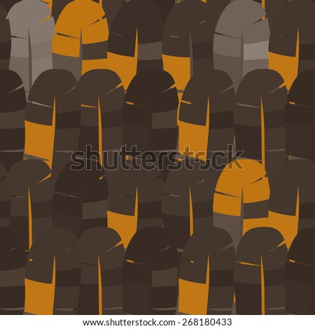 vector seamless abstract pattern background feathers - stock vector