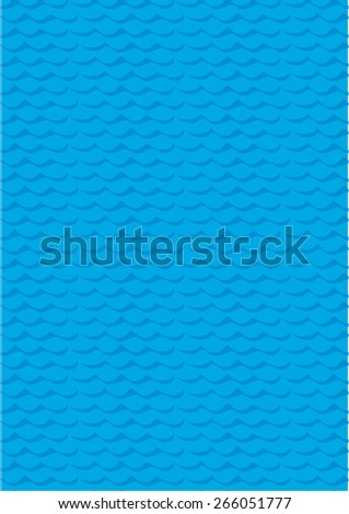 Vector seamless abstract pattern, Water wave pattern, Blue wave wallpaper theme - stock vector