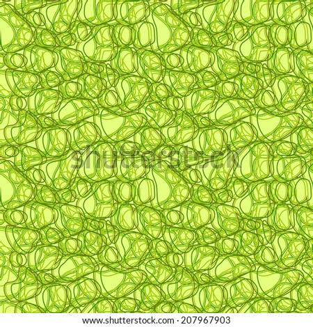Vector seamless abstract pattern with green curves - stock vector