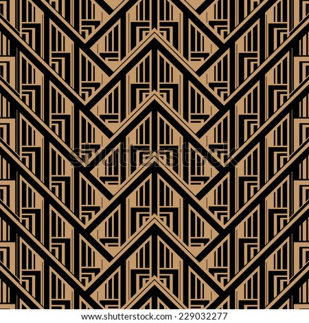 Vector Seamless Abstract Vintage Pattern. Gatsby Art Deco Style.  - stock vector