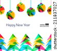 Vector seamless background, New Year 2015. - stock vector