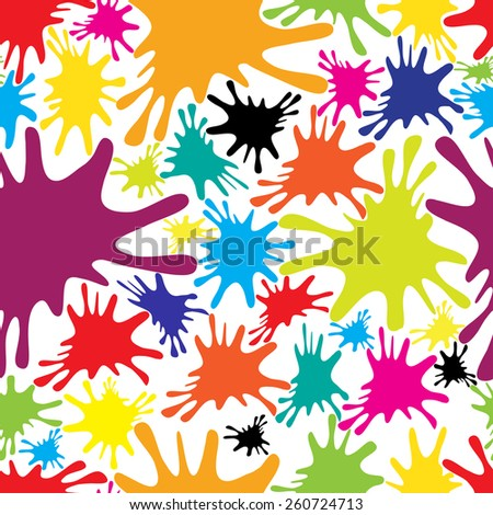 Vector seamless background of color blots  - stock vector