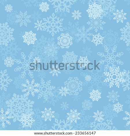 vector seamless background with snowflakes - stock vector