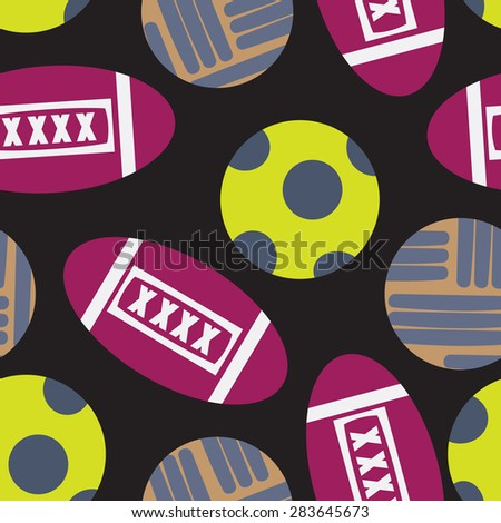 Vector seamless balls drawing.  - stock vector