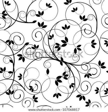 Vector seamless beautiful vintage floral retro grunge background pattern illustration - stock vector
