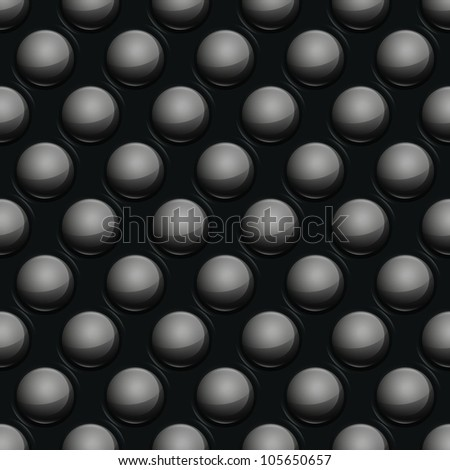 Vector seamless bump glossy metal texture pattern background - stock vector