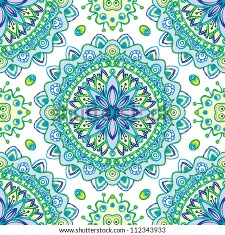 vector seamless colorful floral pattern background - stock vector