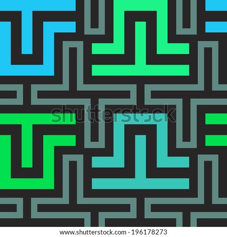 Vector seamless curved stripes pattern - stock vector