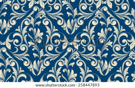 Vector seamless decorative pattern - stock vector