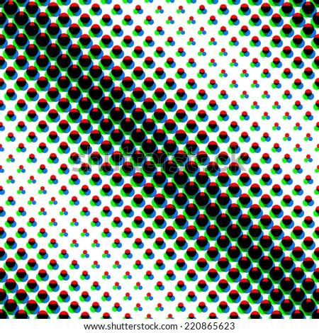 Vector seamless dots pattern - stock vector