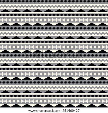 Vector seamless ethnic pattern. Abstract background. Geometric borders. Traditional  ornament. - stock vector