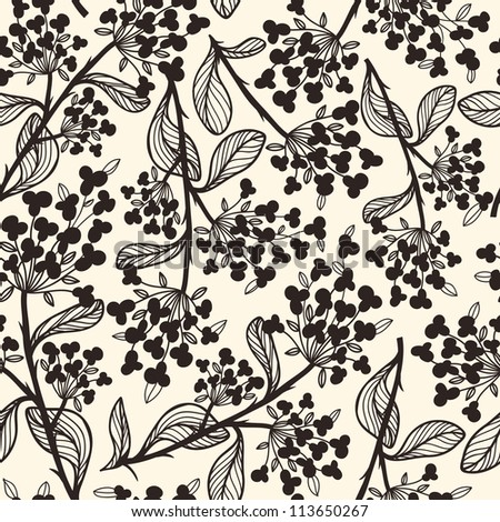 vector seamless floral pattern - stock vector