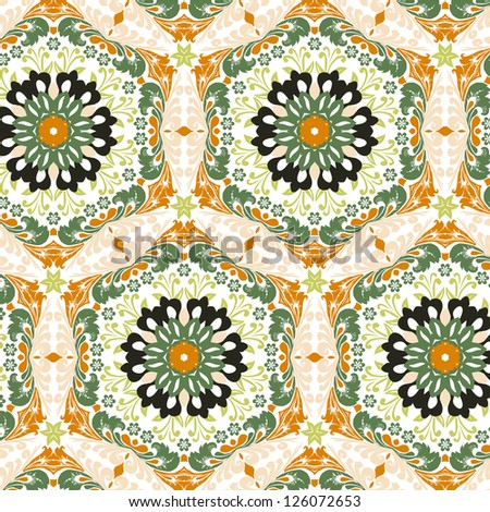vector seamless floral pattern background - stock vector